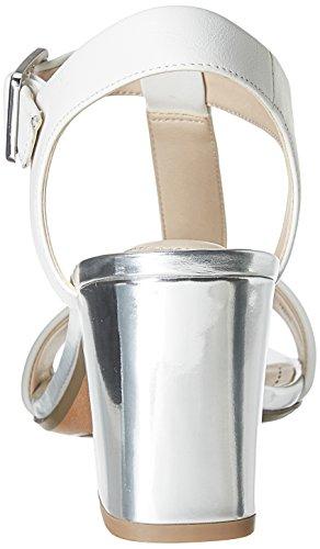 Clarks - Smart Deva, Sandalo da donna Argento (White/Silver Lea)