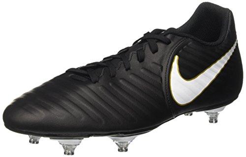 Nike Herren Tiempo Rio IV SG Fußballschuhe, Schwarz (Black/White/Black/Mtlc Vivid Gold), 44 EU (Tiempo Rio)