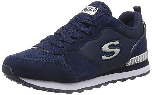 Skechers Damen Retros-og 85-goldn Gurl Sneaker, (Navy Suede/Mesh/Nylon/Silver Trim NVY), 6 EU