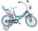 Denver 25283, Bici MOD. Frozen II per Bambino Misura 16'' -rotelle e Freno Anteriore/Posteriore-Colore Azzurro/Rosa, Multicolore