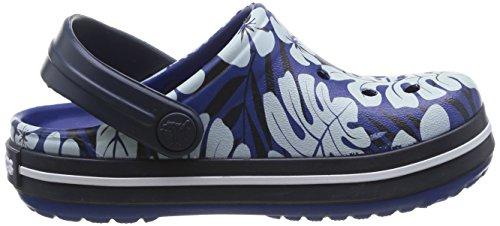 Crocs Tropical Print, Sabots mixte bébé Bleu (Cerulean Blue/Navy)