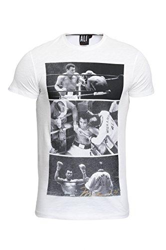 Course - Herren T-Shirt in Weiß - Muhammad Ali - Gr. M