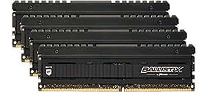 Ballistix Elite Kit di Memoria RAM DDR4 da 32 GB (8 GBx4), 2666 MT/s (PC4-21300), DIMM 288-Pin - BLE4C8G4D26AFEA