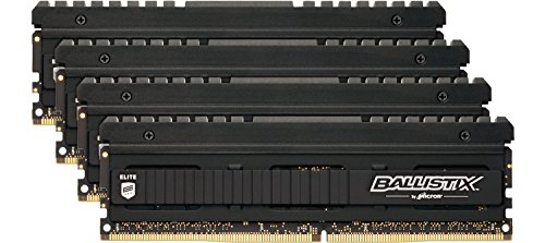 Ballistix Elite BLE4C4G4D26AFEA Kit Memoria da 16GB (4GB x 4) Single Rank, DDR4, 2666 MT/s, PC4-21300, SR x8, DIMM, 288-Pin