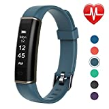 Letsfit Fitness Tracker HR, intelligenter Activity-Tracker, Pulsmesser, Schlaf-Monitor, Schrittzähler, wasserdicht Smart Watch Armband für Herren, Damen und Kinder