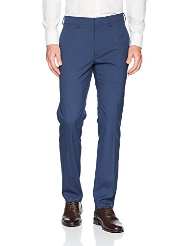 Kenneth Cole Reaction Men's Glen Plaid Slim Fit Flat Front Dress Pants