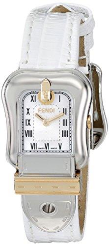 Fendi B.Fendi Lizard Two-Tone Small Mother-of-Pearl Dial Women's Watch #F372244