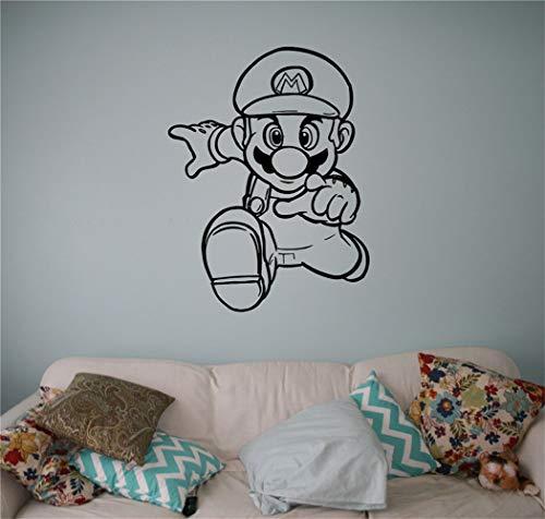 Wandaufkleber Schlafzimmer Videospiel-Dekor-Spiel-Abziehbilder Super Mario-Videospiel-Aufkleber Superheld-Ausgangsinnenraum