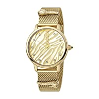 Just Cavalli Animalier Women's Yellow Gold Dial Stainless Steel Analog Watch - JC1L126M0065
