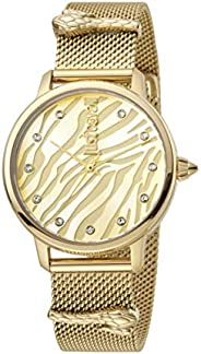 Just Cavalli Animalier Women's Yellow Gold Dial Stainless Steel Analog Watch - JC1L126M