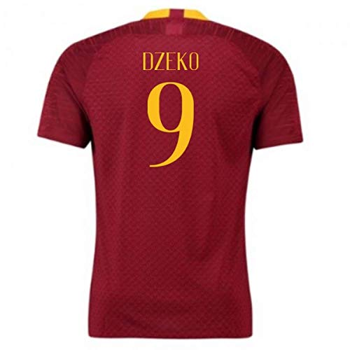 2018-2019 AS Roma Home Nike Football Soccer T-Shirt Maglia (Edin Dzeko 9)