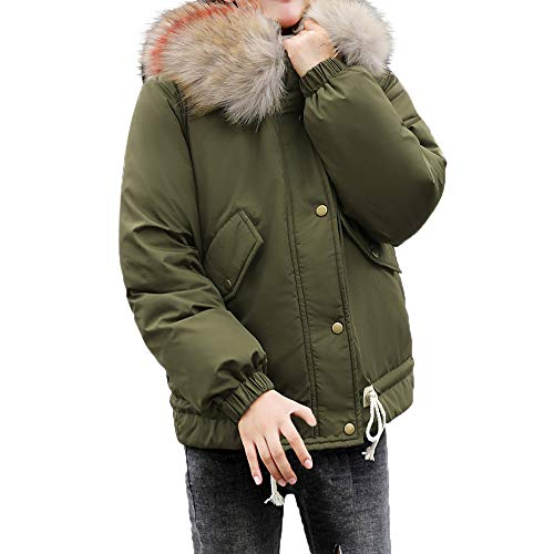 TianWlio Mäntel Frauen Weihnachten Damen Mantel Langarm Strickjacke Jacke Outwear Herbst Winter Warmer Mantel Kapuzen Solide Outwear Dicker Pelzkragen Baumwolle Parka schlanke Jacke