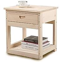 Preisvergleich für Bedside table Massivholz-Schlafzimmer-Möbel, Nachttisch-Speicher Schließfach-Sofa-Beistelltisch, einfach, umweltfreundlich und haltbar zu säubern. Hoch 50cm / 42cm Optional