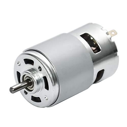 rque Elektromotor High Speed 5000/10000/12000rpm Mikromotor mit Lager und Halterung CW & CCW für DIY-Fahrerteile (10000 RPM, 24V) ()
