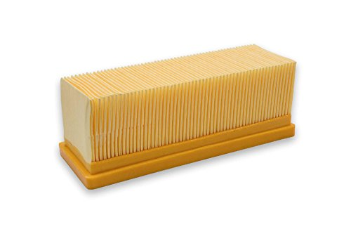 vhbw Flachfaltenfilter Filter Mehrzwecksauger Kärcher 2501, 2501 TE, 2601, 2601 plus, 2701, 2701TE, 2801, 2801 plus, 3001, 3001 hot wie 6.414-498.0