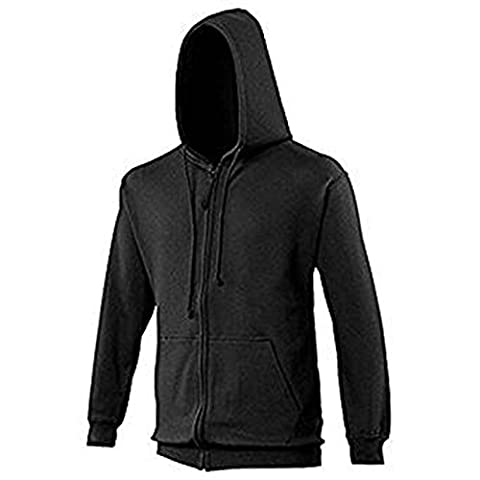 AWDis Zoodie Full Zip Hoodie Covered Main Zip with Self Fabric 80% Cotton 20% Polyester (4XL, Jet Black)