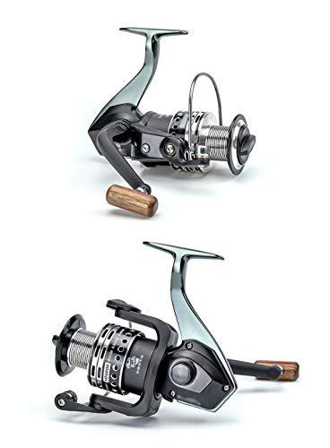 LLJPYX7L Angelrolle, Metallrahmen-Design, komfortabler Griff, 13 Edelstahllager für Anfänger, geeignet für Marine, Strand, Seefischerei, 4.9: 1 (Color : 2 Reel)