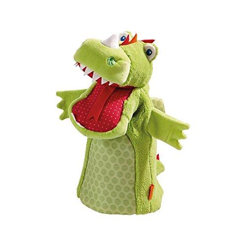 Haba 302525 - Handpuppe Drache, Kleinkindspielzeug