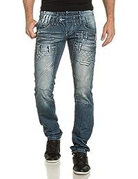 BLZ jeans - Jeans bleu effet double ceinture