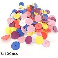 Golfball Marker - 100 Stücke Transparentem Kunststoff Golfball Position Marker Sortierte Farbe Marker Ball Maker Basis Zubehör Mark Durchmesser 24mm