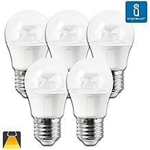 Aigostar - 182816 - pack de 5 bombillas led c5 g45b de 5 watios, casquillo gordo (e27), 320 lumen y luz calida (3000k)