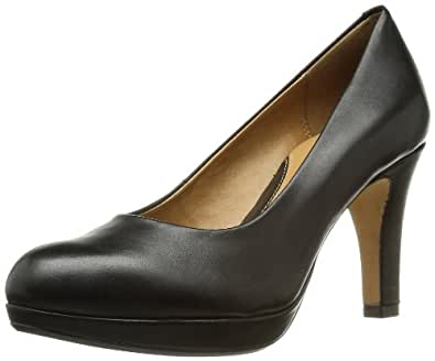 Clarks Anika Kendra 203543674 Damen Pumps, Schwarz (Black Leather), EU 39