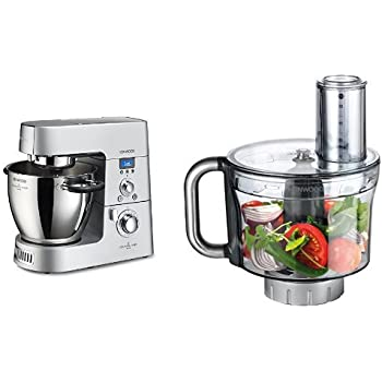 Kenwood KM096 Cooking Chef Impastatrice Planetaria + KAH647PL Accessorio Food Processor