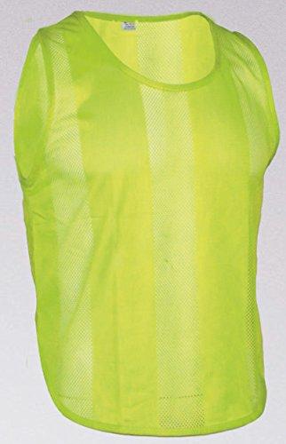 10x Markierungshemden/Trainingsleibchen 5 Farben - 3 Größen lieferbar (Gelb, Senior)