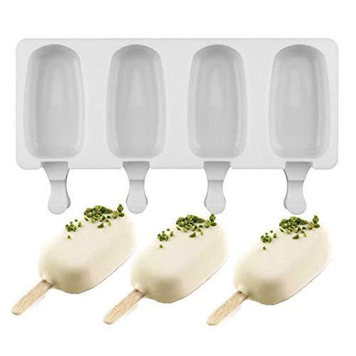 lymty Silikon Eisform Pop EIS Am Stiel Formenbauer Gefrorene Dessert Popsicle Tray Home Küche Werkzeuge Pan + 10 stücke Holzstäbchen