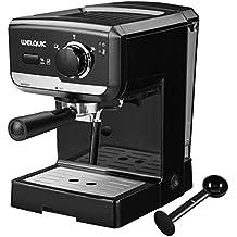 WELQUIC Máquina de Café con Bomba de 15 Barras, Control de Temperatura, Varita de