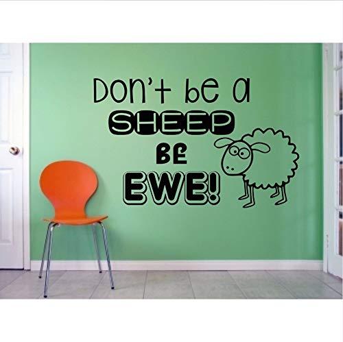 Preisvergleich Produktbild Wmbz Sei kein Schaf Sei Ewe Humor Wandkunst Vinyl Aufkleber Aufkleber 48X75Cm