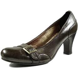 Ornela Brenti 33281-123 Damen Schuhe Premium Qualität Pumps Braun (braun) [EU 40.0]