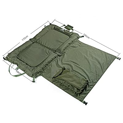 Day Session Beanie Unhooking Mat 110cm x 70cm With Waterproof Kneeling Pad by Jack Kirkham Sports & Leisure