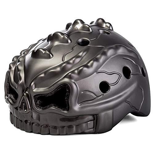 H_y Kindersporthelm,stoßfest Sonnencreme Radfahren Skating Roller Helm Schlagfestigkeit Licht Ausrüstung Alter 3-10 Kinder,Chrome -