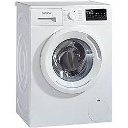 Siemens iQ300 WM14N2A0 Waschmaschine Frontlader / A+++ / 157 kWh/Jahr / 1390 UpM / 7 kg / Weiß / Großes Display mit Endezeitvorwahl / WaterPerfect