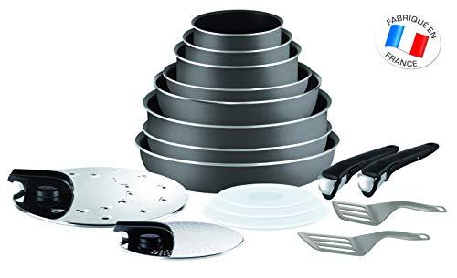 Tefal Ingenio Essential - Juego de 8 Piezas Aluminio con Mango Extraíble, Sartenes de 22, 26 y 28 cm...
