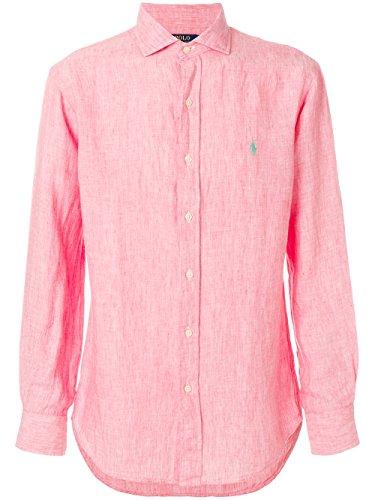 Ralph lauren camicia uomo slim-fit lino 710-695930 (s, 003 pink)