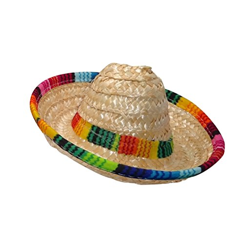 Beige DISBACANAL Sombrero Mejicano de Paja 45cm