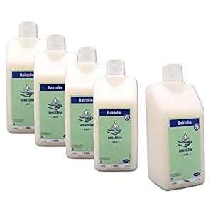 5x 1000ml Baktolin Sensitive Waschlotion mit Kamille & Urea – im ConsuMed Sparpack