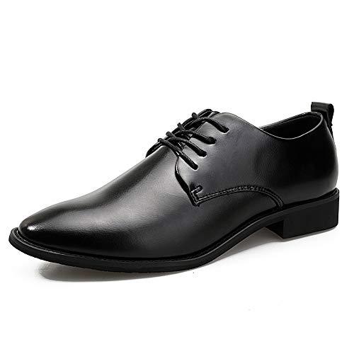 Apragaz Männer schwarz Business Oxford Casual Fashion Classic bequem und leichte Formelle Schuhe (EIN Yard weniger als normal) (Color : Schwarz, Größe : 42 EU) -