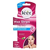 Veet Face Hair Remover Ready To Use Wax Strips - 12 Wax Strips