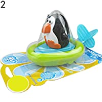 AchidistviQ Baby Bath Toy, Cartoon Penguin Duck Crocodile Baby Kid Bathtub Digging Rope Bathing Water Toy