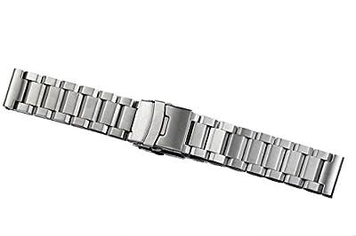 hombres robustos de gama alta cepillado sólido acero inoxidable 316l pulseras de reloj inox correas de metal