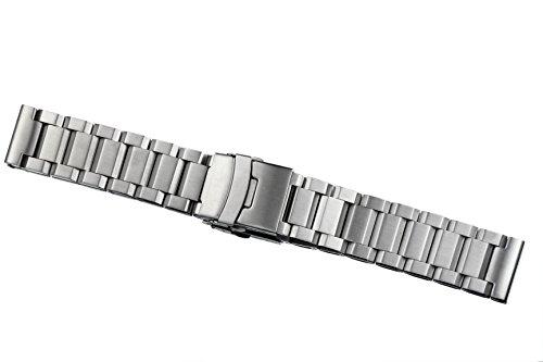 cinturini per orologi 22mm degli uomini di lusso solido acciaio inossidabile tipo pesante chiusura chiusura (Rolex In Acciaio Inossidabile Oyster)