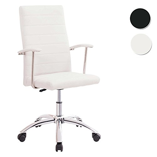 SILLA DE ESCRITORIO PARA DESPACHO MODELO LOOK BASE RUEDAS COLOR BLANCO - SEDUTAHOME