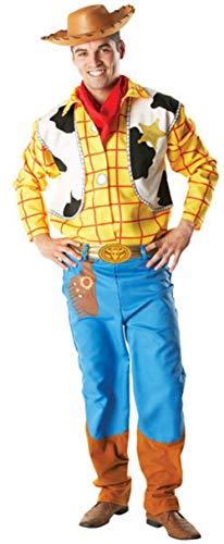 (Herren 4 Stück DELUXE Disney Woody Toy Story Cowboy Halloween Kostüm Kleid Outfit STD XL - Multi, Multi, STD)
