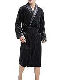 Kimono Hombres Albornoz Batas Manga Larga Pareja Hombre Mujer Bata Plush Shawl Moda Casual Kimono Bata