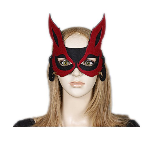 Mask Loveso Halloween Party Elegant Red Fox Eye Face Mask For Masquerade Carnival Fancy (Kinder Fox Kostüm Für Up Make)