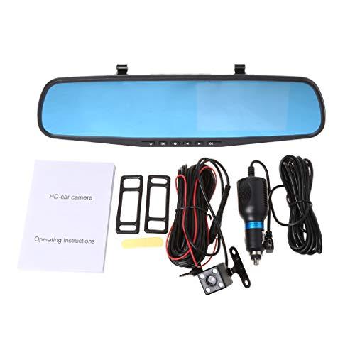 Dashcam Recorder mit Rückfahrkamera-Set, 10,9 cm (4,3 Zoll), 1080P, Dual-Linse, Auto DVR Spiegel