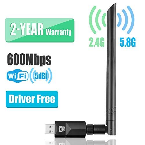 YIYOU WiFi Antena USB Adaptador600MbpsDual Band